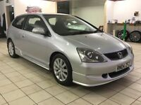 !!12 MONTHS MOT!! 2004 HONDA CIVIC SPORT 1.6 3 DOOR / SERVICED / DRIVES EXCELLENT / MUST BE SEEN