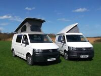 Modern luxury VW campervans and motorhomes for hire, 2 and 4 berth available