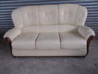 Italian Cream Leather 3-1-1 Suite (Sofa)