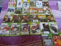 25 Xbox 360 games + 1 xbox game