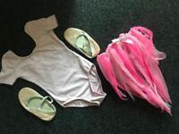 Girls balet leotard,shoes,skirt age 3-6 years