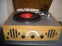VINTAGE STYLE RECORD PLAYER RADIO