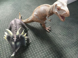 Two Replica Dinosaurs