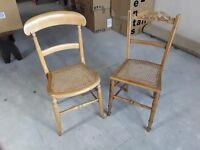 2 caned bedroom chairs