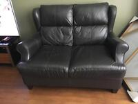 2 seater small leather sofa