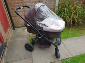 Pushchair with car seat & Isofix base