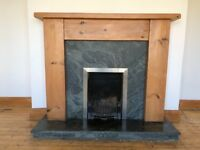 Pine Shaker Fire Surround and Hearth