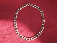 Chunky Ibex solid silver dog chain - cost £200 - hip hop / bling