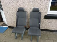 2 mini bus seats out of vauxhall vivaro mini bus £120 live north of preston.