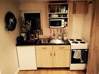Readvertised : Small part furnished one bed flat/garage conversion