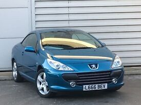 2008 BLUE PEUGEOT 307 SPORT CC convertable ***ONE OWNER***LOW MILES**FSH