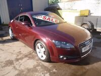 Audi TT TFSI,Sport Coupe,rare DSG Auto,full MOT,full leather interior,flat bottomed steering wheel