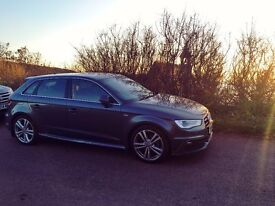 AUDI A3 S-LINE, 64 PLATE, Low Mileage, Full leather seats, 2 female owners