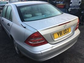 2001 MERCEDES C-CLASS C180 CLASSIC (AUTOMATIC PETROL)Parts Only