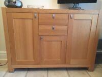 Oak sideboard with 2 cupboards