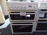EX-DISPLAY WHITE HOTPOINT FREESTANDING COOKER REF: 31207