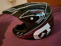 MTB helmet and jerseyb