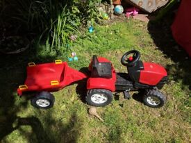 Red Ride on Childs tractor toy