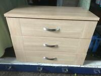 Modern chest 3 drawers with FREE DELIVERY PLYMOUTH AREA