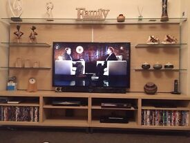 Television cabinet, coffee table, tall cabinet