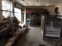 Workshop space , full use of tools and space.