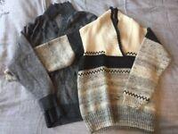 Men's wool jumper size S