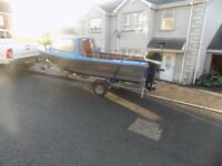 15f fishing boat+outboard+trailer