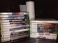 Stack of Xbox 360 games * all or none
