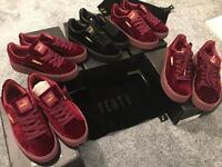 BULK WHOLESALE JOBLOT 5x RIHANNA PUMA FENTY CREEPERS/TRAINERS PINK BLACK SUEDE ALL BRAND NEW BOXED