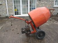 reliable mixer with briggs and straton engine . old but in reasonable condition