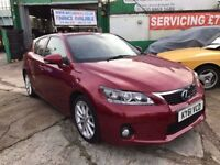 1 OWNER 2011 LEXUS CT 200H SE-L CVT AUTOMATIC HYBRID £0 ROAD TAX 38700 MILES FINANCE £166 PER MONTH