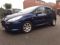2006 peugeot 307 petrol 1.4 in blue