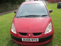 MITSUBISHI CLOT RED 1.1 PETROL MANUAL 3dr Red cheap car to run&drive