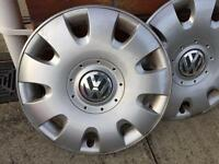 "15"" VW Volkswagon wheel trims from Golf but will fit others"