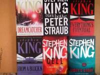Six Stephen King hardback novels