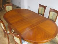 Barker & Stonehouse Extending Dinning Table & Six Chairs Showroom condition Round or Oval shape