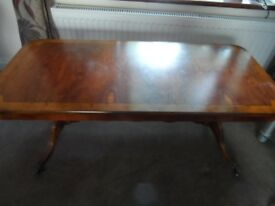 Oblong Occasional / Coffee Table, Polished Antique Yew Wood
