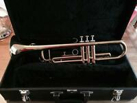 Trevor Jones Trumpet A flat in case with two beginners music books