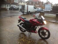 Honda cbf 125 2014 low mileage