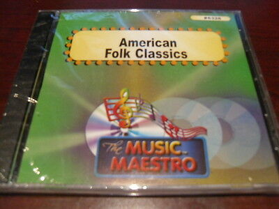 MUSIC MAESTRO KARAOKE 6328 AMERICAN FOLK CLASSICS CD+G OOP SEALED (low stock) for sale  Shipping to Canada