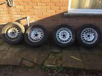 VW Caddy Steel Wheels with Tyres 195 65 R15