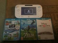 Wii console and Zelda game