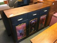 SOLID PANELLED PINE SIDEBOARD