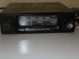 Radiomobile Vintage car radio, 4 valve and one transistor