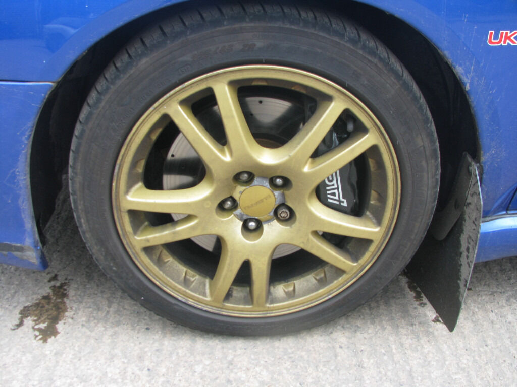 Subaru Impreza 17 Quot Wrx Sti Gold Alloy Wheels Amp Tyres In