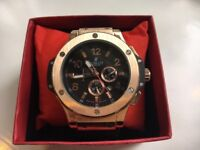 BRAND NEW HUBLOT MENS WATCH ROSE GOLD IN BOX