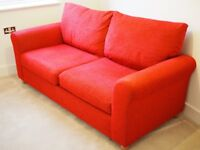 Red M&S Sofa For Sale - As Good As New (Denver - Medium - Chenille Red)