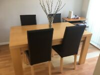 Next Beech table & 4 chairs