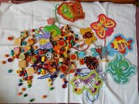 Lacing Threading Beads for Fine Motor Skills / Preschool