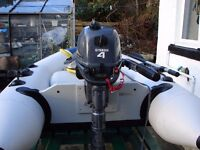 Yamaha outboard and dinghy